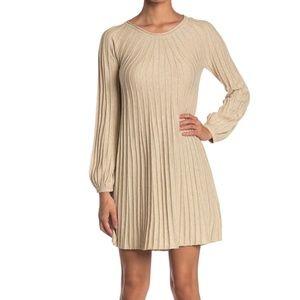 New Max Studio Long Sleeve A-Line Sweater Dress XL